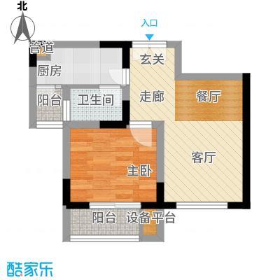 渝洲新城40.85㎡G面积4085m户型