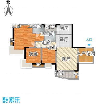 晋愉绿岛103.62㎡B-043/7栋面积10362m户型