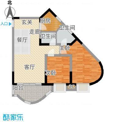 聚丰锦绣盛世71.24㎡7面积7124m户型