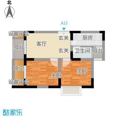 渝洲新城48.06㎡B面积4806m户型