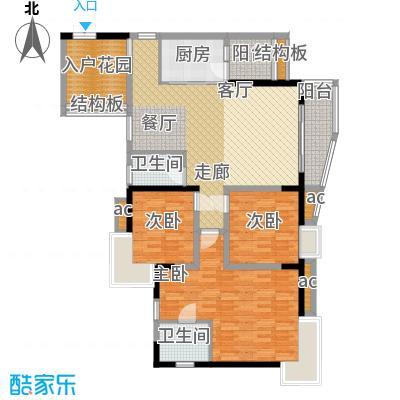 晋愉绿岛103.92㎡B-01[7栋]2面积10392m户型