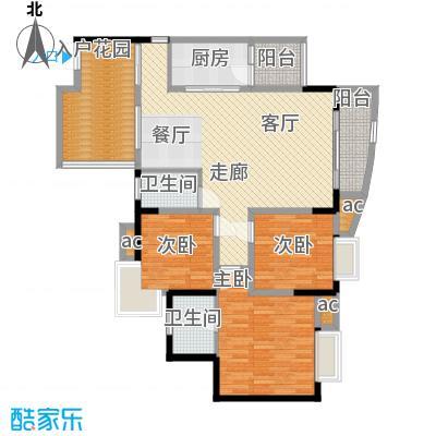 晋愉绿岛94.67㎡D-04面积9467m户型