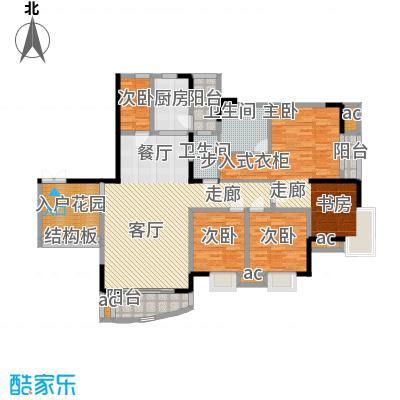 晋愉绿岛126.89㎡A-04[8栋]2面积12689m户型