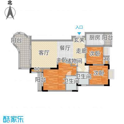 晋愉绿岛104.56㎡02标准层面积10456m户型
