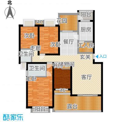 晋愉绿岛142.71㎡F-21面积14271m户型