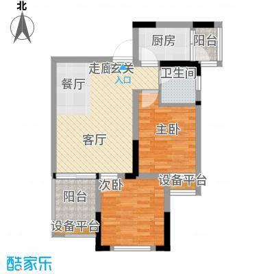 升伟伟清泊客54.98㎡一期3号楼标面积5498m户型