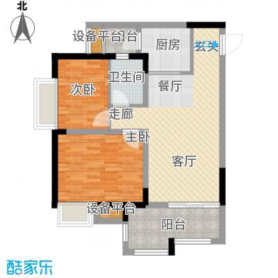 升伟伟清泊客61.70㎡一期1号楼标面积6170m户型