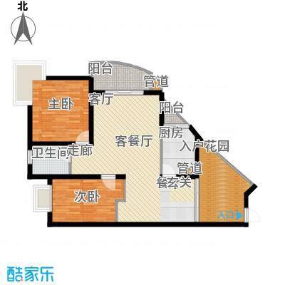 东海福苑85.34㎡A型面积8534m户型