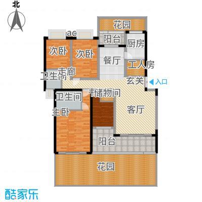 晋愉绿岛140.81㎡F-11面积14081m户型