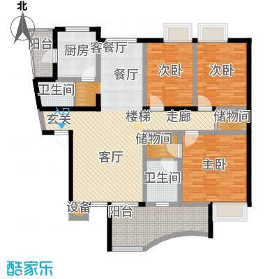 广厦城江畔语林125.30㎡错层面积12530m户型