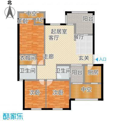 晋愉林畔神韵127.00㎡一期1号楼标面积12700m户型