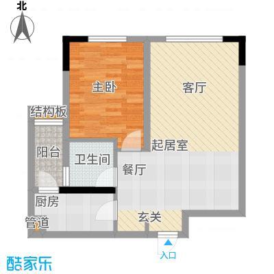 福星颐美名阁42.76㎡4号楼平层0面积4276m户型