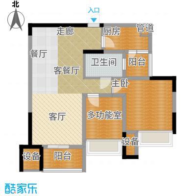 中海北滨华庭67.00㎡一期65号楼面积6700m户型
