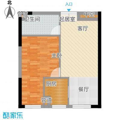 祈年悦城47.06㎡一号楼1号房面积4706m户型