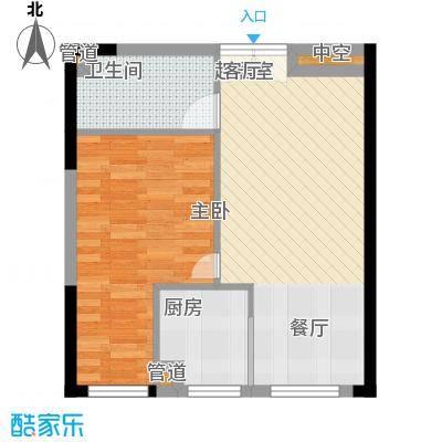 祈年悦城51.63㎡二号楼1号房面积5163m户型