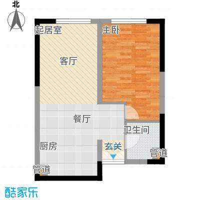 祈年悦城54.06㎡一号楼2-3号房面积5406m户型