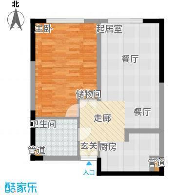 祈年悦城58.52㎡二号楼2-3/8-9号面积5852m户型