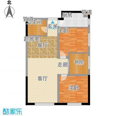 祈年悦城86.80㎡一号楼9号房面积8680m户型