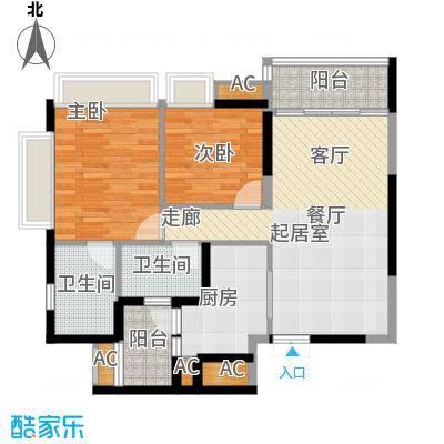重庆天地雍江悦庭80.00㎡一期T5面积8000m户型