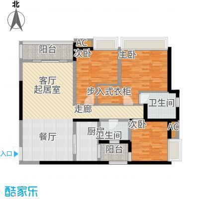 重庆天地雍江悦庭109.00㎡一期T5面积10900m户型