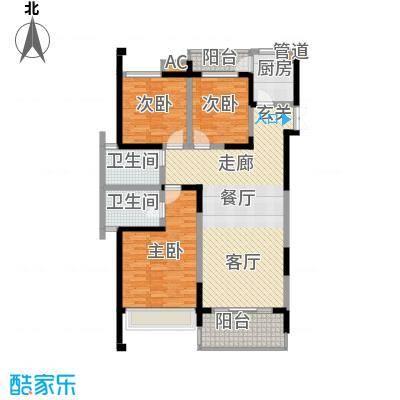 中渝爱都会111.04㎡三期8号楼D4户面积11104m户型
