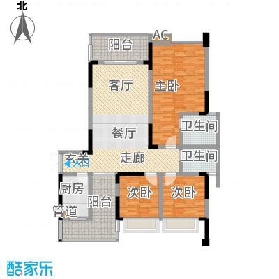中渝爱都会116.03㎡9号楼D2面积11603m户型