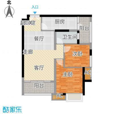 重庆天地雍江悦庭69.00㎡一期T4面积6900m户型