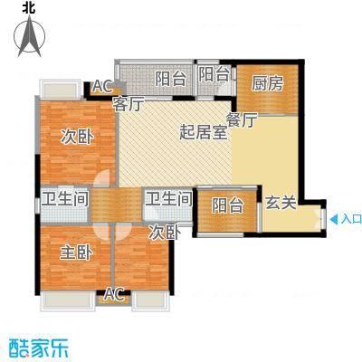 重庆天地雍江悦庭117.00㎡一期T4面积11700m户型
