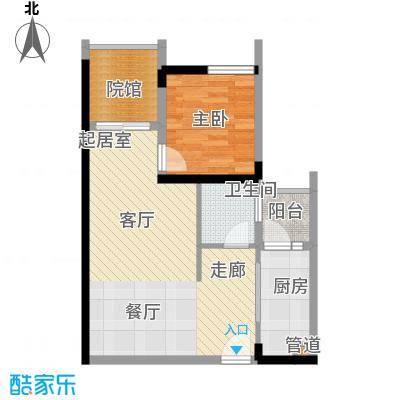 金融街金悦城51.56㎡二期2A、2B面积5156m户型