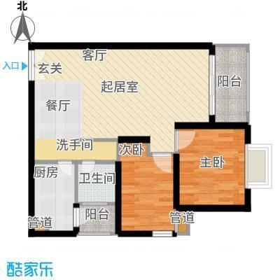 华庭锦园62.18㎡3面积6218m户型