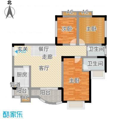 芳草地广通山庄85.00㎡面积8500m户型