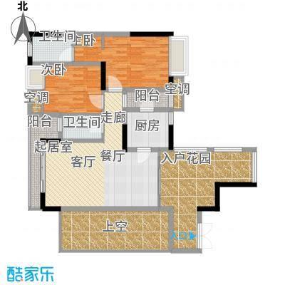 强辉金色池塘82.39㎡三期7号楼2面积8239m户型