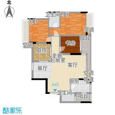 强辉金色池塘95.86㎡三期7号楼1面积9586m户型