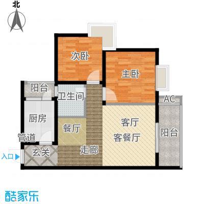 大川水岸菲尔小城77.91㎡5、6楼面积7791m户型