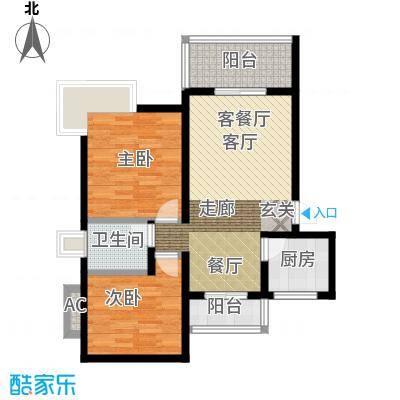 大川水岸菲尔小城67.31㎡1号楼A面积6731m户型