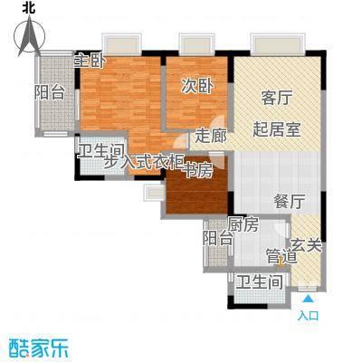 康德27度生活空间110.74㎡A型面积11074m户型