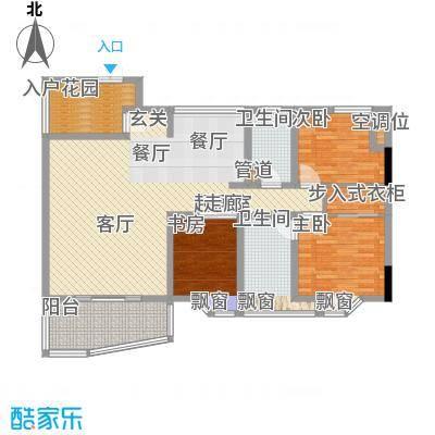 桂花景苑106.53㎡B栋B-4号面积10653m户型