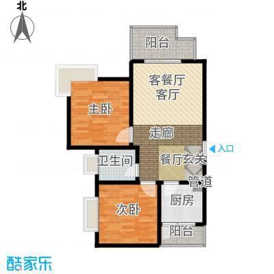 大川水岸菲尔小城60.60㎡3/7号楼面积6060m户型