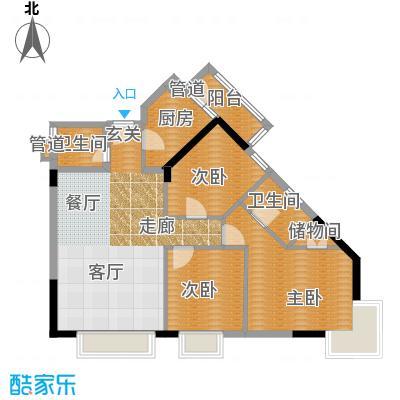 旭东家天下85.42㎡D型家和居面积8542m户型