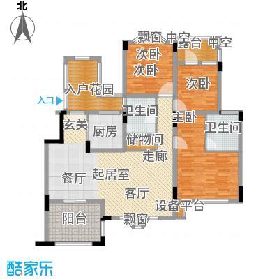 旭辉朗香郡124.92㎡A1a-5(已售完面积12492m户型