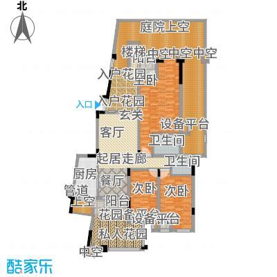 旭辉朗香郡184.00㎡三期42号楼一面积18400m户型