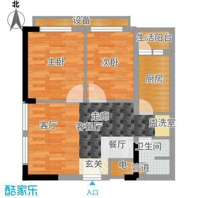 重庆国际家纺城绣色45.71㎡二期面积4571m户型