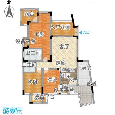 旭辉朗香郡114.00㎡三期42号楼标面积11400m户型