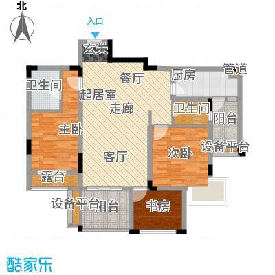 旭辉朗香郡91.58㎡一期2号楼D6-面积9158m户型