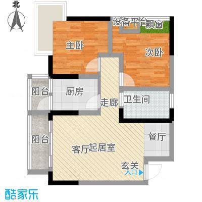 地博春天65.37㎡2号楼1、5号面积6537m户型