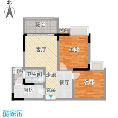 水木青华小小岛69.84㎡A型4号楼面积6984m户型