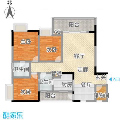 水木青华小小岛111.11㎡A型3号楼面积11111m户型
