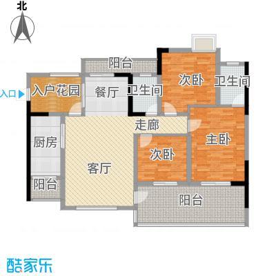 圣湖天域110.18㎡8、9号楼(5号房面积11018m户型