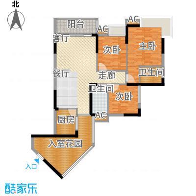 阳明佳城98.07㎡3号楼D2面积9807m户型