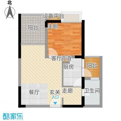 建工北城乐章47.45㎡一期单体楼面积4745m户型